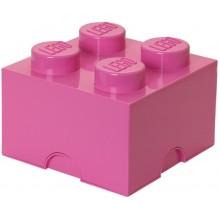 LEGO Pojemnik 4 na zabawki 25 cm Różowy