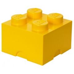 LEGO Pojemnik 4 na zabawki 25 cm Żółty