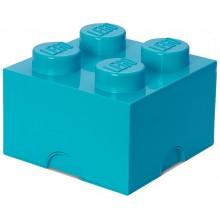 LEGO® Pojemnik 4 na zabawki 25 cm Lazurowy