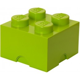 LEGO Pojemnik 4 na zabawki 25 cm Limonka