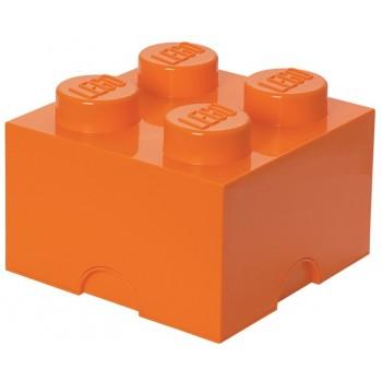 LEGO Pojemnik 4 na zabawki 25 cm Pomarańczowy