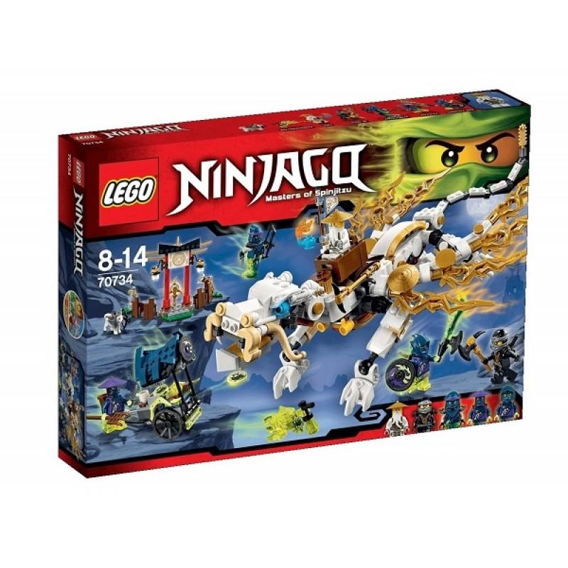Klocki Lego Ninjago 70734 Złoty Smok Mistrza Wu Sklep Zabawkowy