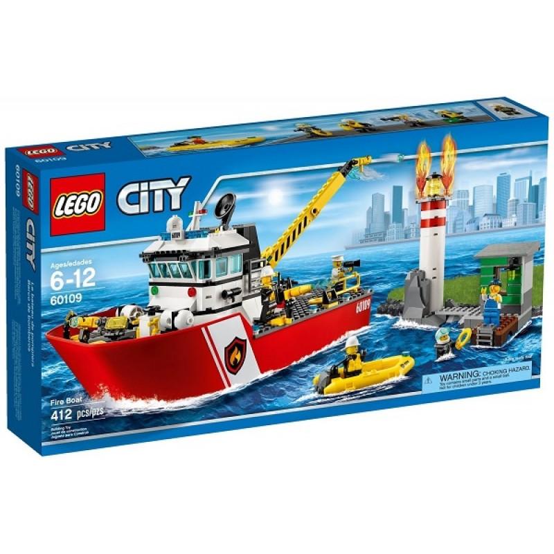Klocki Lego City 60109 Statek Straży Pożarnej Sklep Zabawkowy