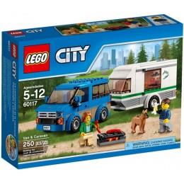 Klocki LEGO CITY 60117 Van z przyczepą kempingową