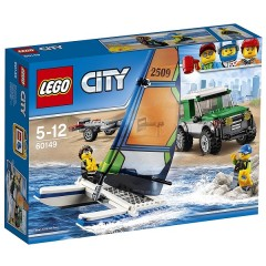 Klocki LEGO® City 60149 Terenówka 4x4 z katamaranem