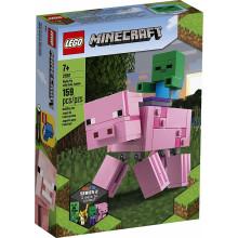 LEGO Minecraft 21157 BigFig - Świnka i mały zombie