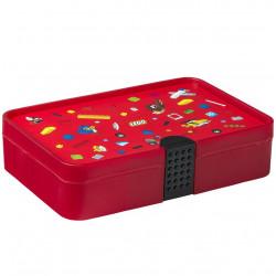 LEGO - Pudełko z przegródkami - Czerwony sorter Iconic na klocki 4084