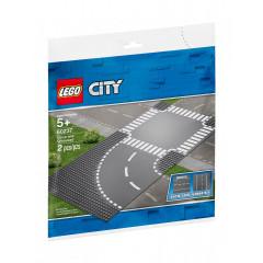 LEGO® City 60237 Płytki konstrukcyjne - Zakręt i skrzyżowanie
