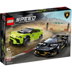 LEGO Speed Champions 76899 Lamborghini Urus ST-X i Lamborghini Huracan Super Trofeo EVO
