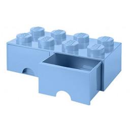 LEGO Pojemnik z szufladą 8 na zabawki 50cm kolor Błękitny