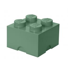LEGO Pojemnik 4 na zabawki 25 cm Piaskowa zieleń