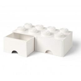LEGO Pojemnik z szufladą 8 na zabawki 50cm kolor Biały
