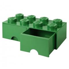 LEGO Pojemnik z szufladą 8 na zabawki - kolor zielony 50cm