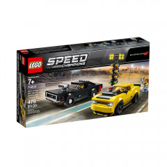 LEGO Speed Champions 75893 2018 Dodge Challenger SRT Demon oraz 1970 Dodge Charger R/T