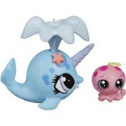 Littlest Pet Shop A9393 Ned Narwhal i Oceania Kelp z akcesoriami