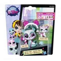 Littlest Pet Shop A9395 Sally Zhen i Pouncer Little z akcesoriami