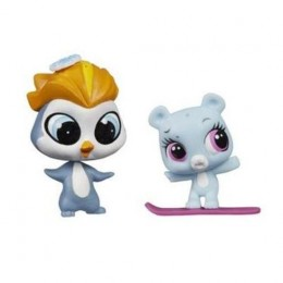 Littlest Pet Shop A9396 Eliza Blue i Rad Slopington z akcesoriami