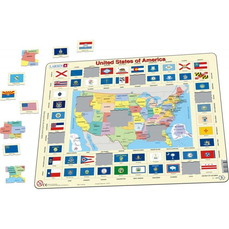 Usa Mapa Kodowa Magnetyczna St