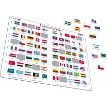 Larsen - Puzzle - Flagi państw świata 07026