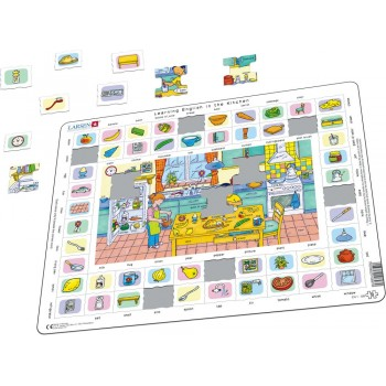 Larsen - W kuchni - Nauka angielskiego - Układanka Puzzle 08970