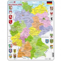 Larsen - Mapa polityczna Niemiec - Puzzle 12595