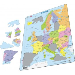 Larsen - Mapa polityczna Europy - Puzzle 19081