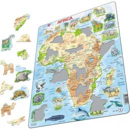 Larsen - Mapa fizyczna Afryki - Puzzle 19227