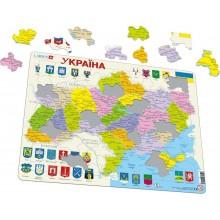 Larsen - Mapa polityczna Ukrainy - Puzzle 21572