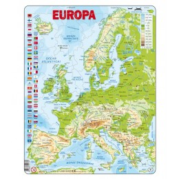 Larsen - Mapa fizyczna Europy - Puzzle 21701