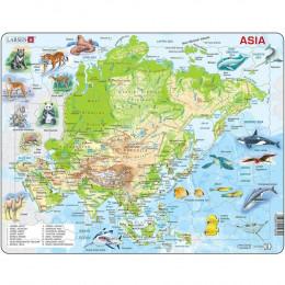 Larsen - Mapa fizyczna Azji - Układanka 21930