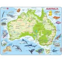 Larsen - Mapa fizyczna Australii - Układanka 21931