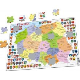 Larsen - Mapa polityczna Polski - województwa - Puzzle 21978