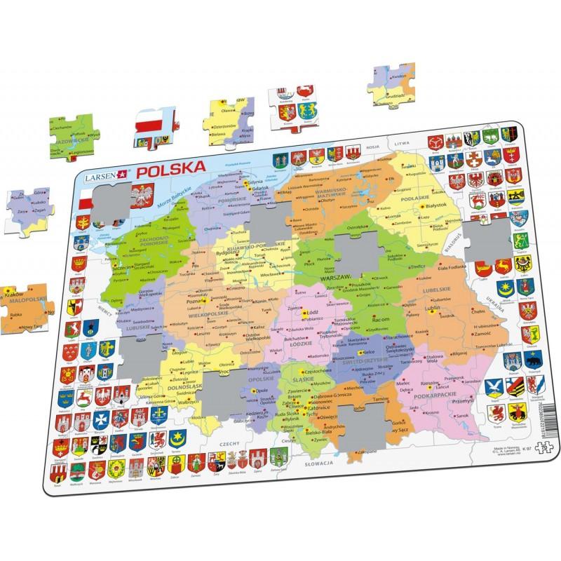 Larsen Mapa Polityczna Polski Wojewodztwa Puzzle 21978
