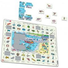 Larsen - Wakacje nad morzem - Nauka angielskiego - Układanka Puzzle 47039