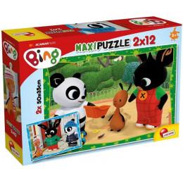 Lisciani - Puzzle Maxi Bing - Przyjaciele 2x12 el - 81226