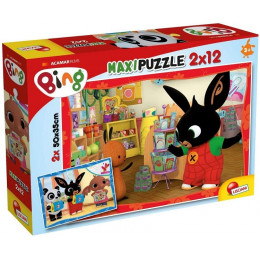 Lisciani - Puzzle Maxi Bing - Szkoła 2x12 el - 81233