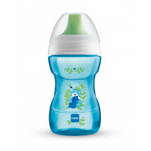 MAM BABY - Kubek 'Fun To Drink Cup' 270ml +8msc - NIEBIESKI 91224