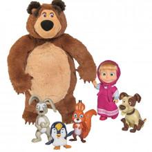 Simba - Masza i Niedźwiedź - Zestaw zabawek Masza i zwierzątka 24956