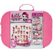 LOL Surprise! - Pokaz mody - Ciemnoróżowa walizka na laleczki 562689