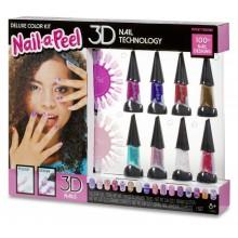 Nail-a-Peel - Zestaw do malowania i ozdabiania paznokci - Deluxe 3D 549482