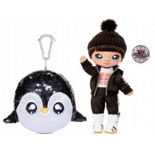 Na Na Na Surprise – Brokatowa seria – Laleczka Andre + pompon pingwin 573982
