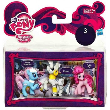 My Little Pony A2031 3 Mini Kucyki - Lotus Blossom Zecora Pinke Pie