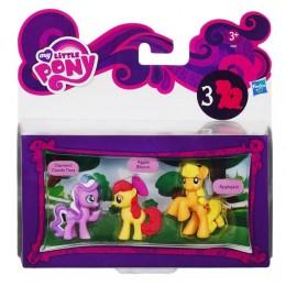 My Little Pony A2032 3 Mini Kucyki - Diamond Dazzle Tiara Apple Bloom Applejack