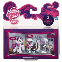 My Little Pony A2033 3 Mini Kucyki - Rarity Photo Finish Hoity Toity