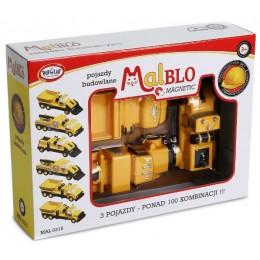 MALBLO – Klocki magnetyczne – Pojazdy budowlane 0315