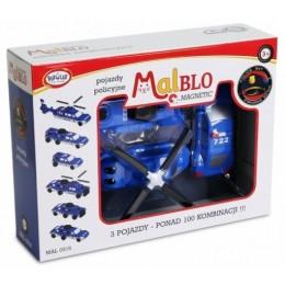 MALBLO – Klocki magnetyczne – Pojazdy policyjne 0316