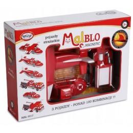 MALBLO – Klocki magnetyczne – Pojazdy strażackie 0317