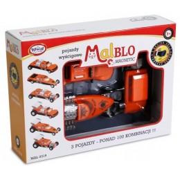 MALBLO – Klocki magnetyczne – Pojazdy wyścigowe 0319