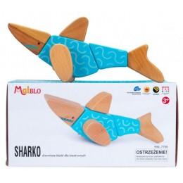 MALBLO – Drewniane klocki modułowe 7w1 – Sharko 7750