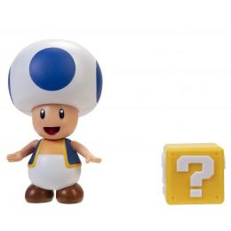 Super Mario – Figurka Toad 6 cm + blok z pytajnikiem – 40313